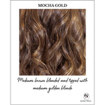 Load image into Gallery viewer, Mocha Gold-Medium brown blended and tipped with medium golden blonde