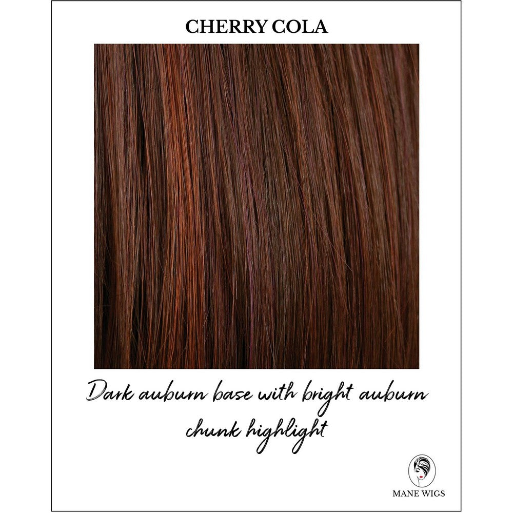 Cherry Cola-Dark auburn base with bright auburn chunk highlight