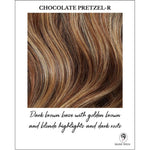 Load image into Gallery viewer, Chocolate Pretzel-R-Dark brown base with golden brown and blonde highlights and dark roots