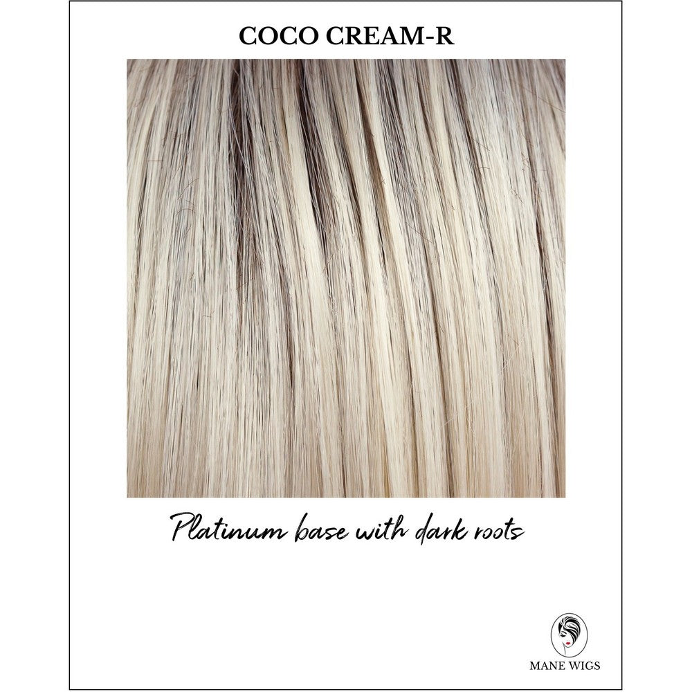 Coco Cream-R-Platinum base with dark roots