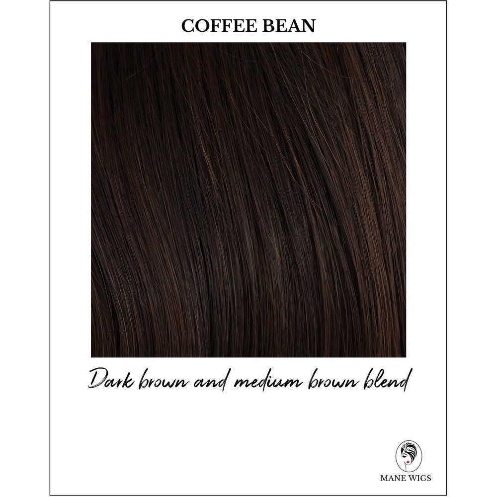 Coffee Bean-Dark brown and medium brown blend