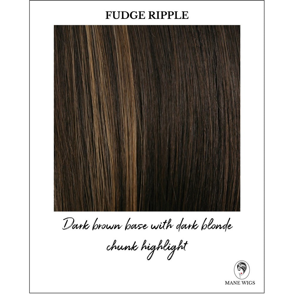Fudge Ripple-Dark brown base with dark blonde chunk highlight
