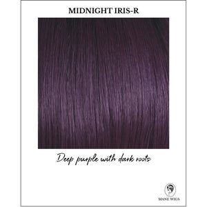 Midnight Iris-R-Deep purple with dark roots