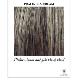 Pralines & Cream-Medium brown and gold blonde blend