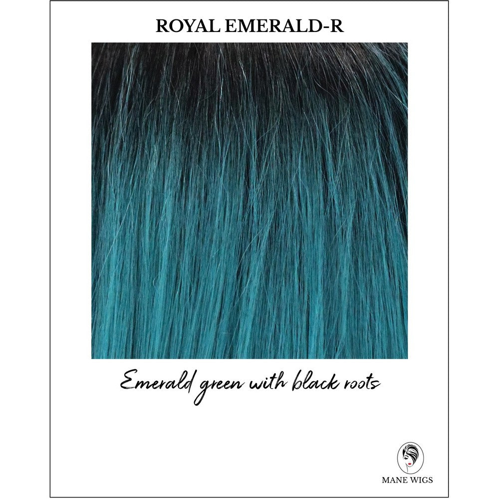 Royal Emerald-R-Emerald green with black roots
