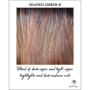 Shaded Amber-R-Blend of dark copper and light copper highlights and dark auburn roots