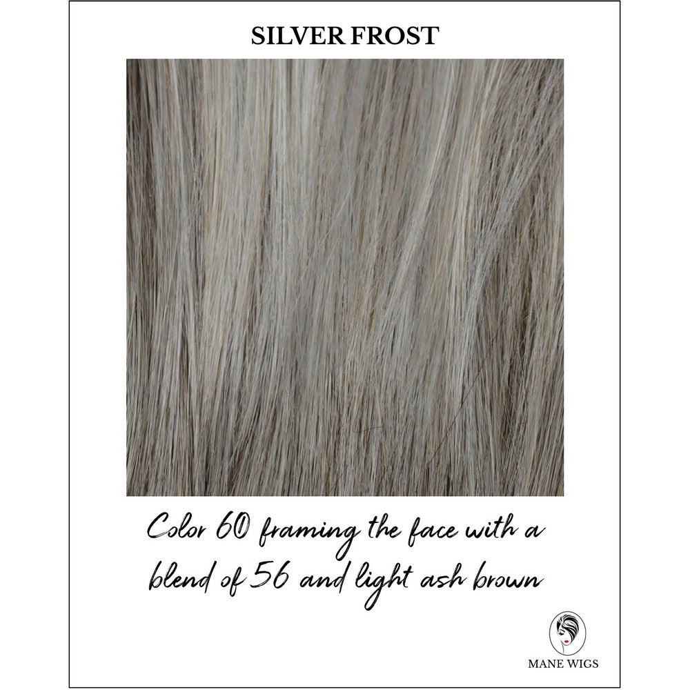 Silver Frost-Color 60 framing the face with a blend of 56 and light ash brown