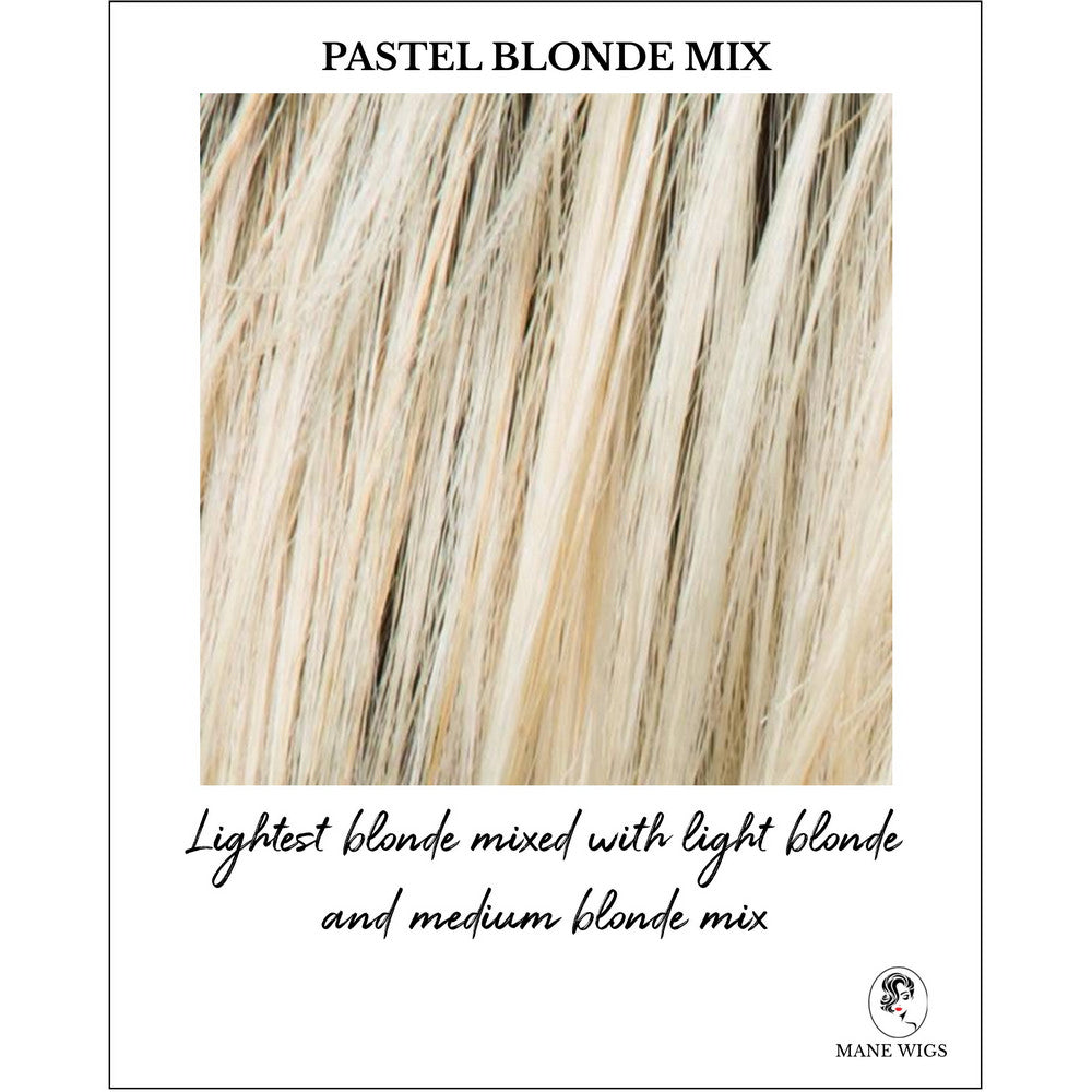 Pastel Blonde Mix-Lightest blonde mixed with light blonde and medium blonde mix