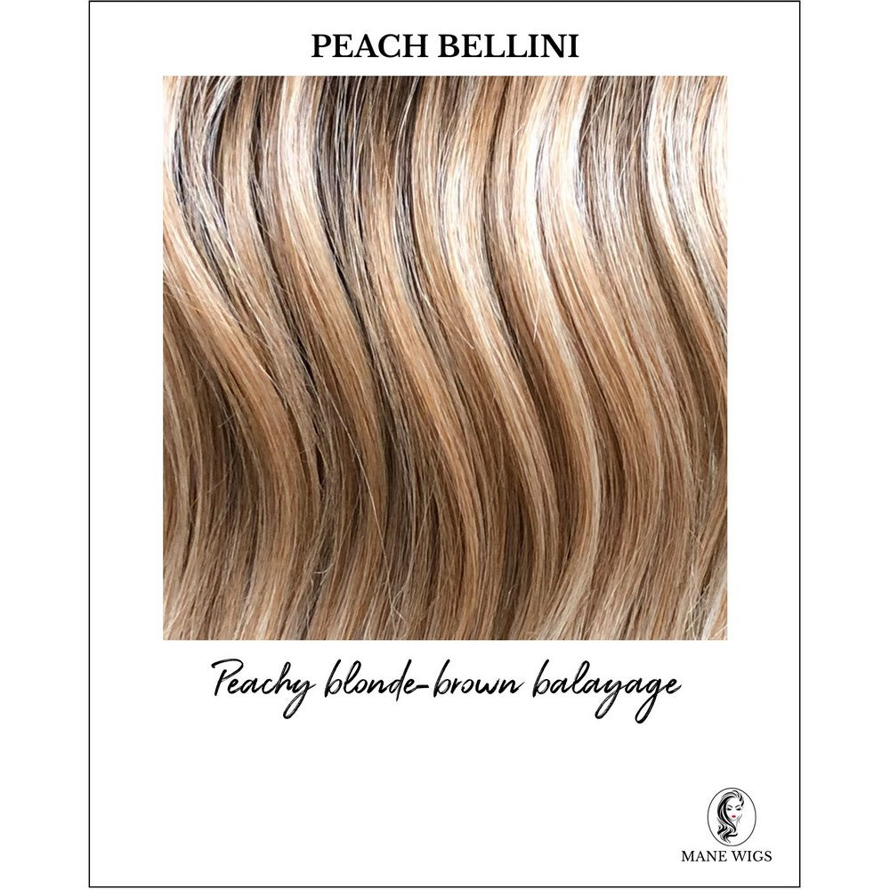 Peach Bellini-Peachy blonde-brown balayage