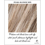 "Load image into Gallery viewer, Pearl Blonde Mix-Medium ash blonde base with off-white ""pearl"" platinum highlights and dark ash blonde mix"