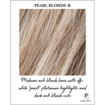 "Load image into Gallery viewer, Pearl Blonde-R-Medium ash blonde base with off-white ""pearl"" platinum highlights and dark ash blonde roots"