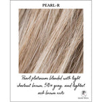 Load image into Gallery viewer, Pearl-R-Pearl platinum blended with light chestnut brown, 50% gray, and lightest ash brown roots