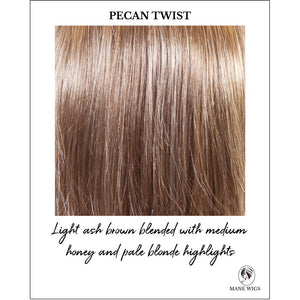 Pecan Twist-Light ash brown blended with medium honey and pale blonde highlights