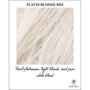 Platin Blonde Mix-Pearl platinum, light blonde, and pure white blend