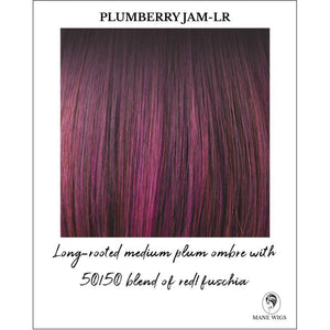Plumberry Jam-LR-Long-rooted medium plum ombre with 50/50 blend of red/fuschia