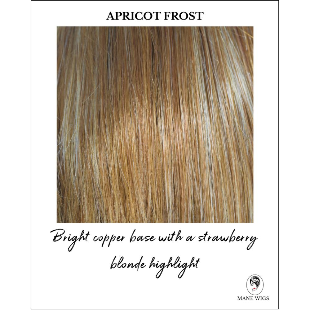 Apricot Frost-Bright copper base with a strawberry blonde highlight