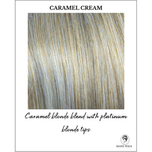 Caramel Cream - Caramel blonde blend with platinum blonde tips