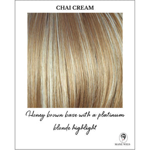 Chai Cream-Honey brown base with a platinum blonde highlight