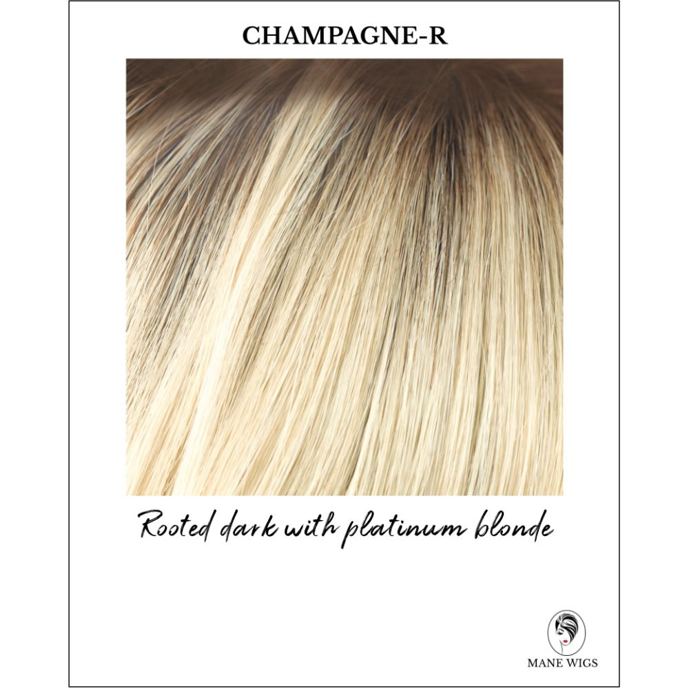 Champagne-R-Rooted dark with platinum blonde