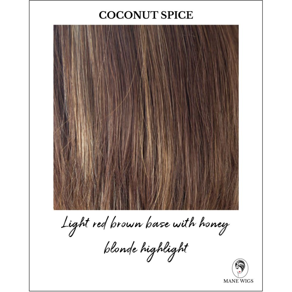 Coconut Spice-Light red brown base with honey blonde highlight