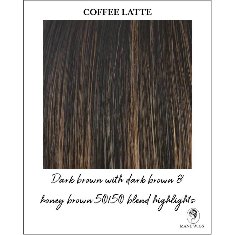 Coffee Latte - Dark brown with dark brown & honey brown 50/50 blend highlights