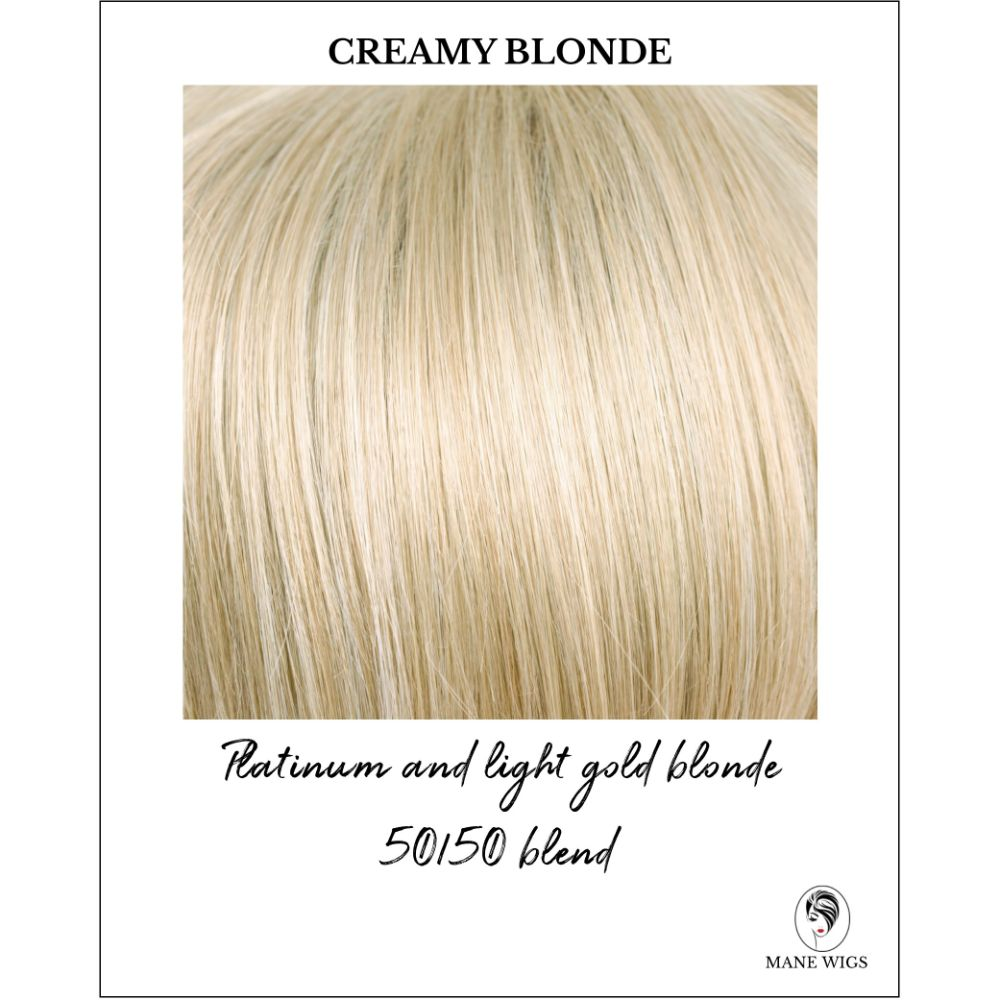 Creamy Blonde-Platinum and light gold blonde 50/50 blend