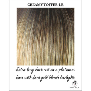 Creamy Toffee-LR-Extra long dark root on a platinum base with dark gold blonde lowlights