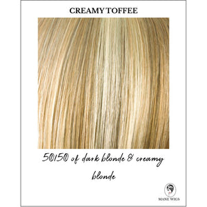 Creamy Toffee-50/50 of dark blonde & creamy blonde