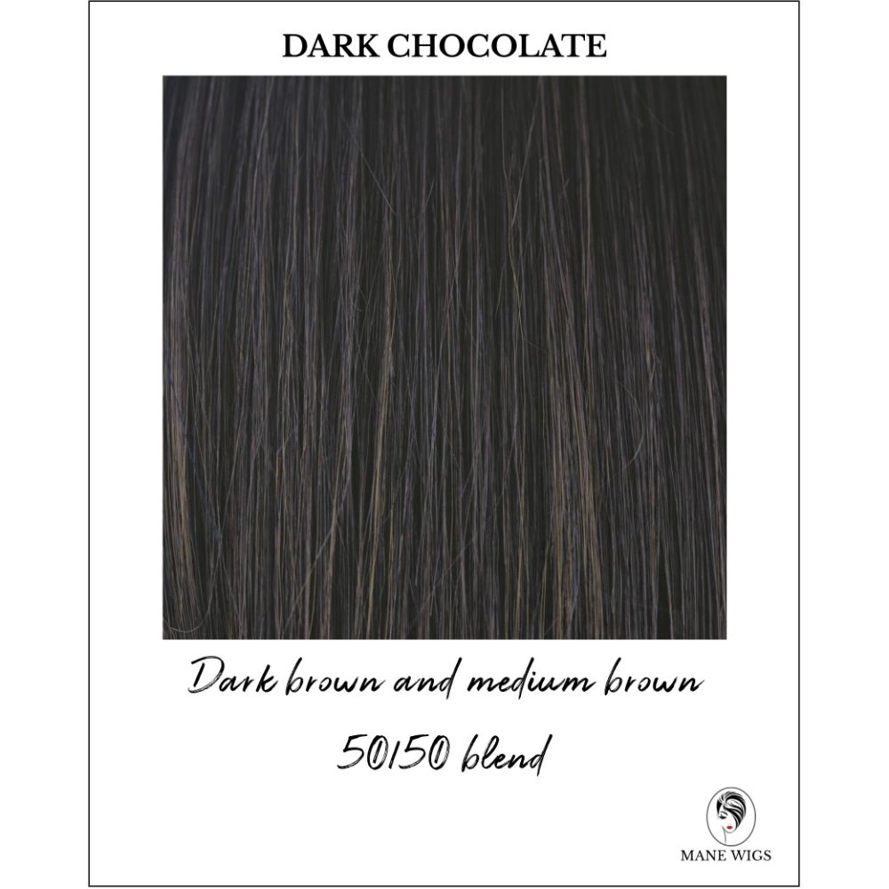Dark Chocolate-Dark brown and medium brown 50/50 blend