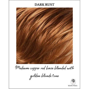 Dark Rust-Medium copper red base blended with golden blonde tone