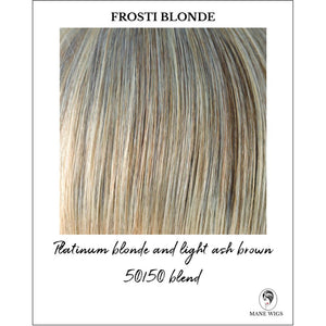 Frosti Blonde-Platinum blonde and light ash brown 50/50 blend