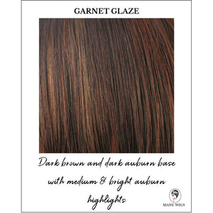 Garnet Glaze-Dark Brown and dark auburn base with medium & bright auburn highlights