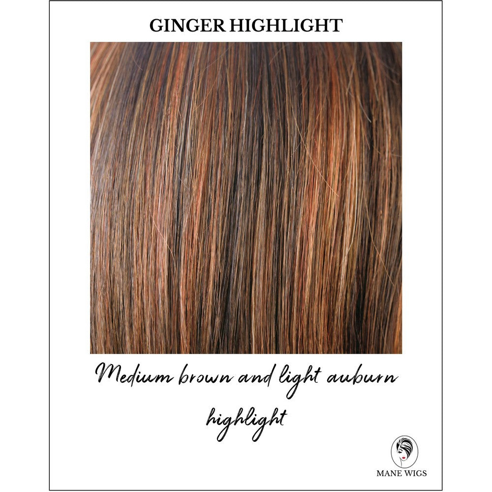 Ginger Highlight - Medium brown and light auburn highlight