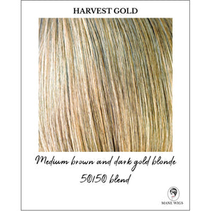 Harvest Gold-Medium brown and dark gold blonde 50/50 blend