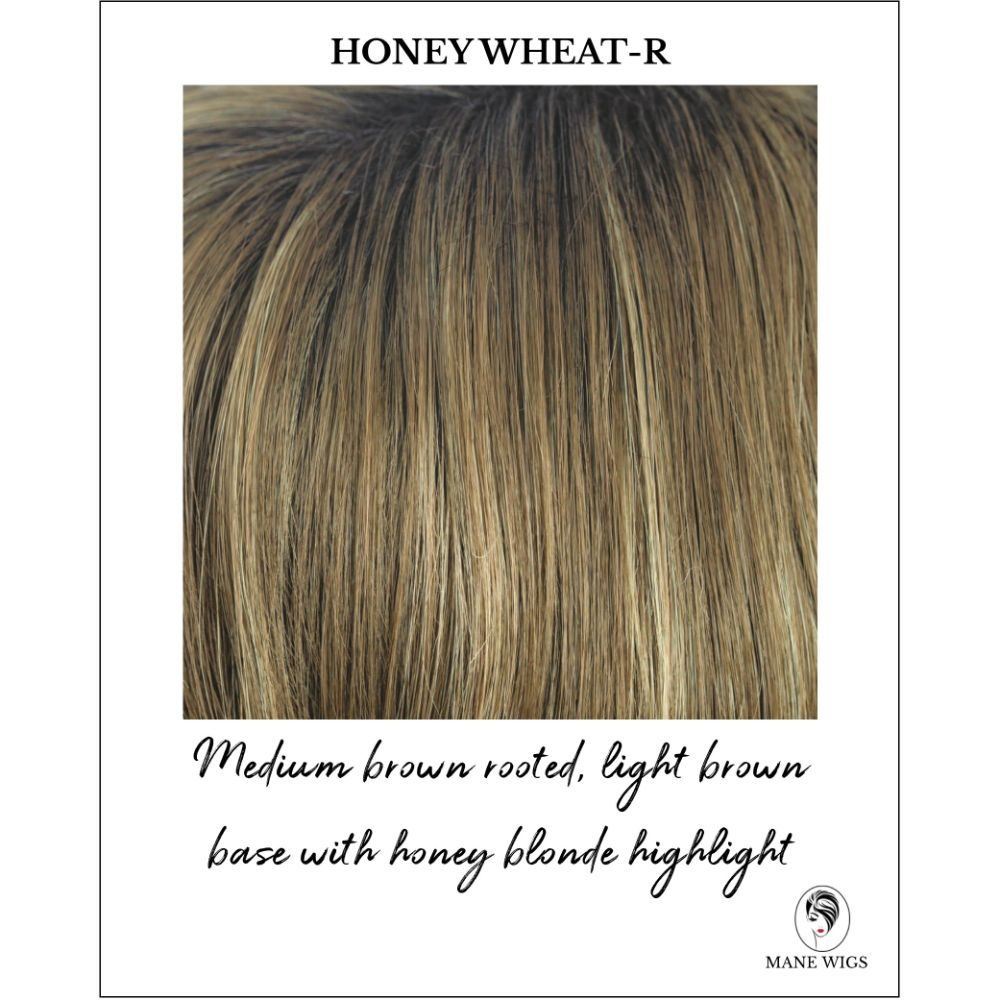 Honey Wheat-R - Medium brown rooted, light brown base with honey blonde highlight