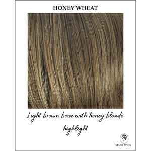 Honey Wheat-Light Brown base with honey blonde highlight