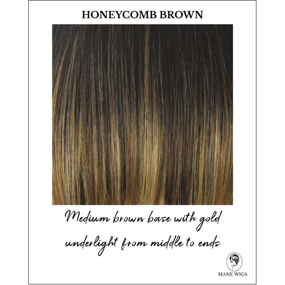 Honeycomb Brown-Medium brown base with gold underlight from middle to ends