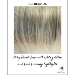Ice Blonde-Ashy blonde base with white gold tip and face framing highlights