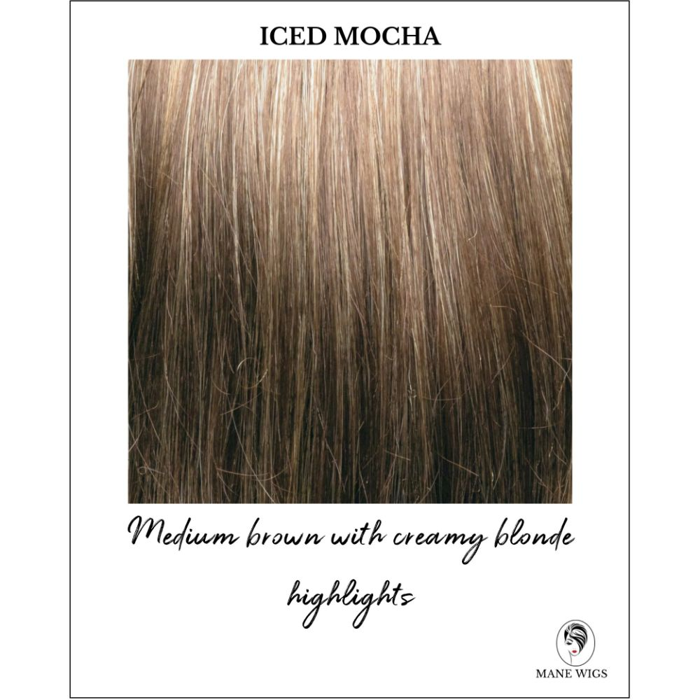 Iced Mocha-Medium brown with creamy blonde highlights