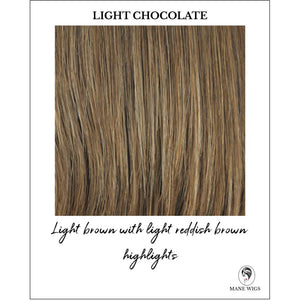 Light Chocolate-Light brown with light reddish brown highlights