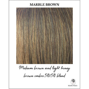 Marble Brown-Medium brown and light honey brown ombre 50/50 blend