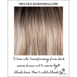 Load image into Gallery viewer, Melted Marshmallow-3-tone color transforming from dark warm brown root to warm light blonde base, then to white blonde tip