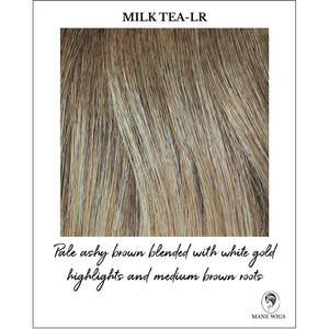 Milk Tea-LR-Pale ashy brown blended with white gold highlights and medium brown roots