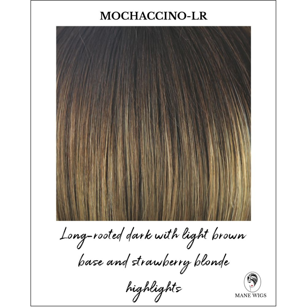 Mochaccino-LR-Long-rooted dark with light brown base and strawberry blonde highlights