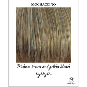 Mochaccino - Medium brown and golden blonde highlights