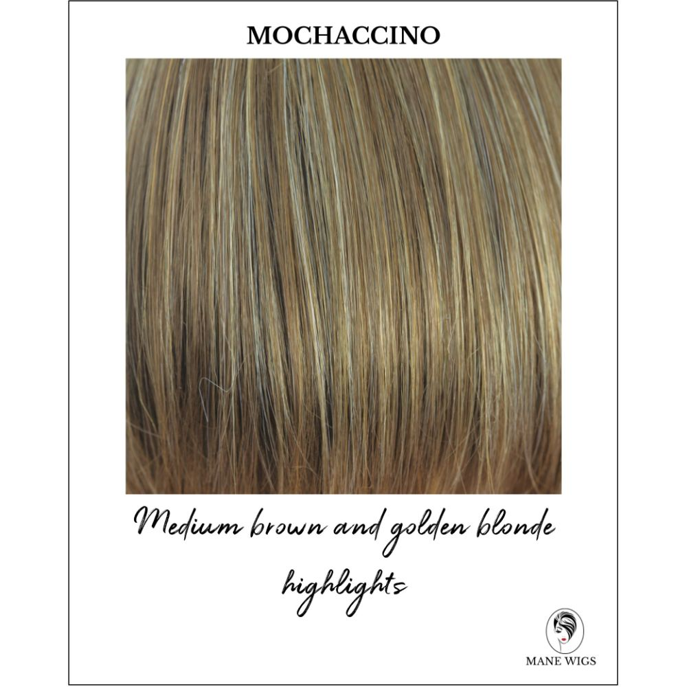 Mochaccino-Medium brown and golden blonde highlights