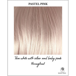 Pastel Pink-Pure white with silver and baby pink throughout