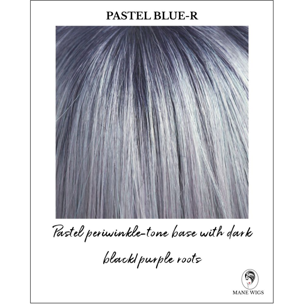 Pastel Blue-R-Pastel periwinkle-tone base with dark black/purple roots