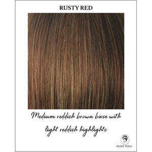 Rusty Red-Medium reddish brown base with light reddish highlights