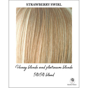 Strawberry Swirl-Honey blonde and platinum blonde 50/50 blend
